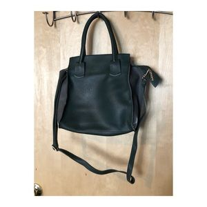 Green & Gray Faux Leather Purse